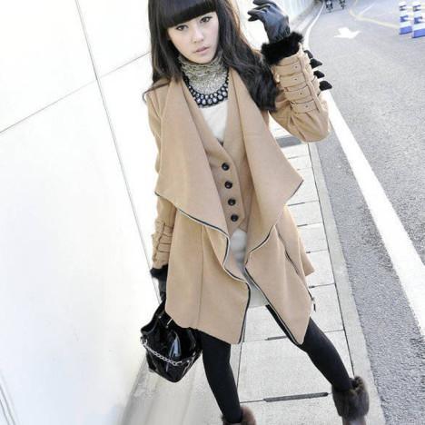 米色毛外套搭配图片_米色毛外套如何搭配