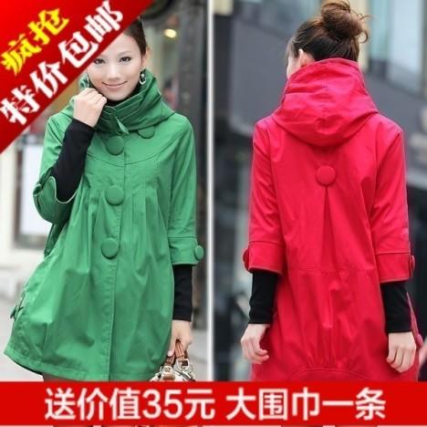 Fancystyle 好萌的日系小女生 红色外套很喜庆 -2012秋冬装新款韩版连