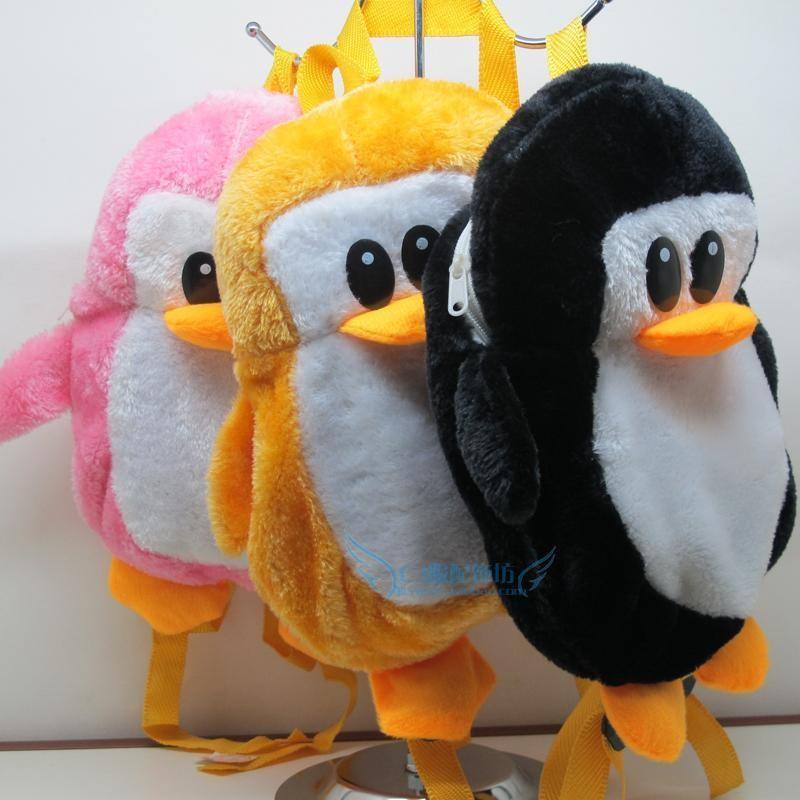 韩版可爱卡通毛绒玩具/儿童背包/小企鹅背包幼儿园双肩背包小书包