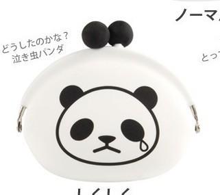 【图】网友推荐单品:笑哭脸娃娃熊猫硅胶零钱包锁匙