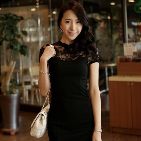 黑裙子欧式花纹