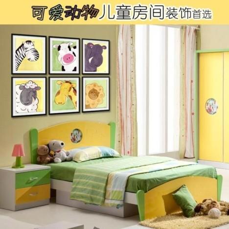 儿童房间客厅照片相片墙有框画装饰画可爱卡通创意