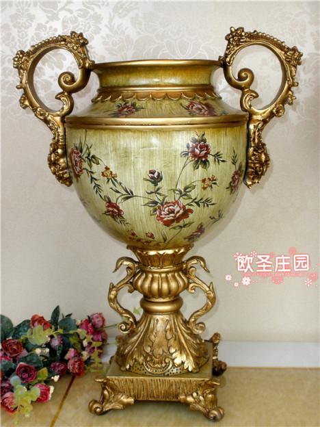 欧式落地大花瓶搭配图片