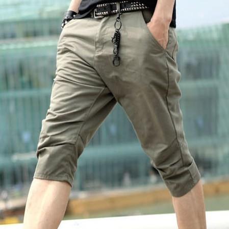 男士新款韩版立体裁剪版型超好休闲裤 七分裤图片