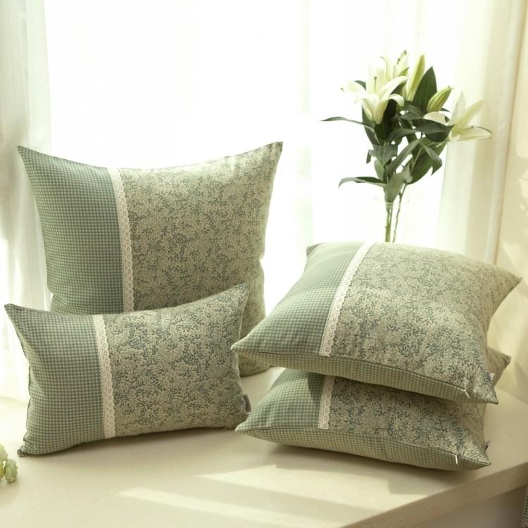 美式田园/乡村 沙发靠垫/靠垫套/抱枕/抱枕套/靠枕 不含芯#灰绿色