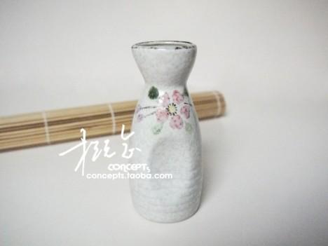 概念出品 日式 岸本烧手绘樱花 陶瓷酒具 酒器 清酒壶 酒瓶