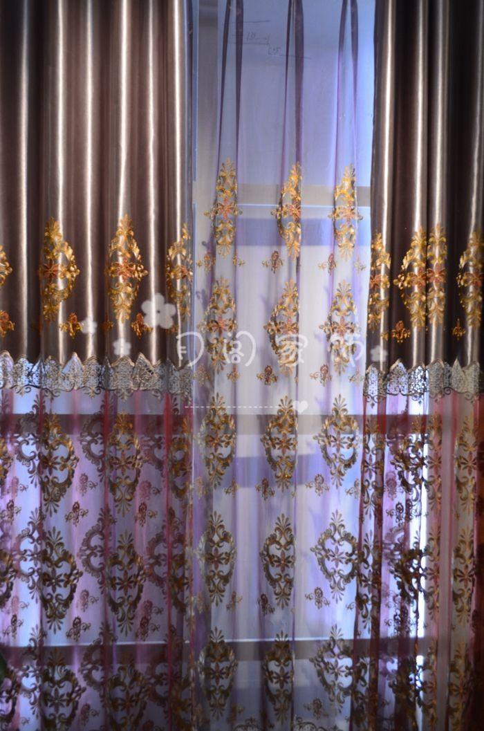 简欧式窗帘材质贴图