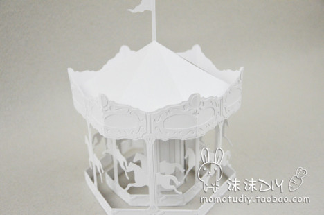 【图】网友推荐单品:3d立体旋转木马纸雕模型拼装 3d