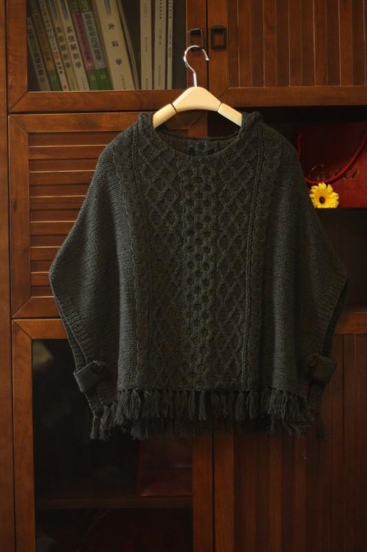 手工编织毛衣套头衫搭配