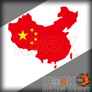 中国国旗爱国车贴搭配图片