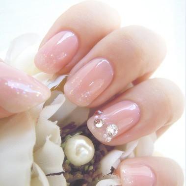 粉色可爱指甲图片