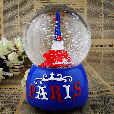 巴黎铁塔水晶球搭配图片