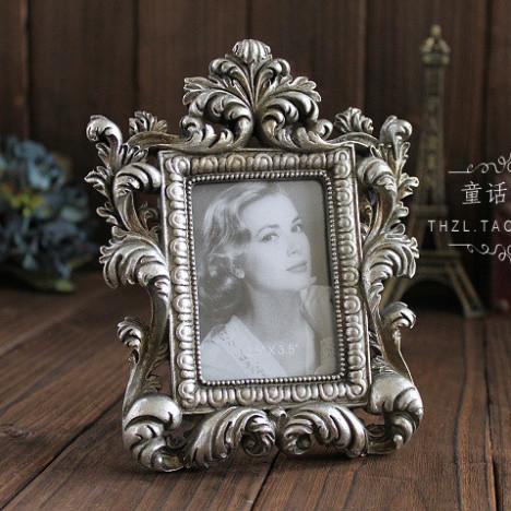 欧式复古仿古相框奢华古典创意树脂高档玻璃