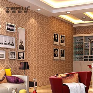 欧式客厅电视背景墙壁纸