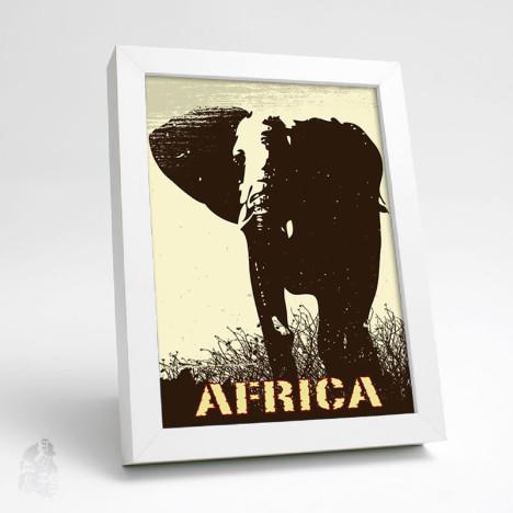 非洲动物装饰画 长颈鹿