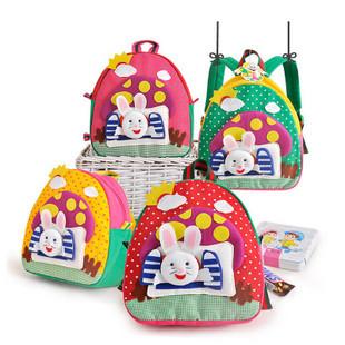 手工书包/兔子的蘑菇房手工书包/可爱纯手工卡通书包