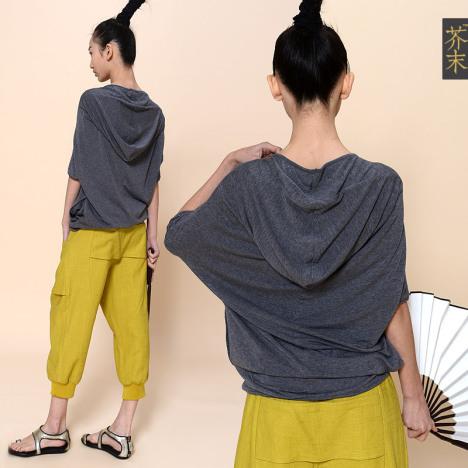 【芥末原创女装】飞瀑∕结构设计圆领短袖t恤衫图片