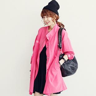 代购粉色外套搭配图片