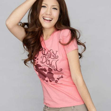 2013新款短袖圆领女装粉色甜美可爱韩版女装t恤修身t