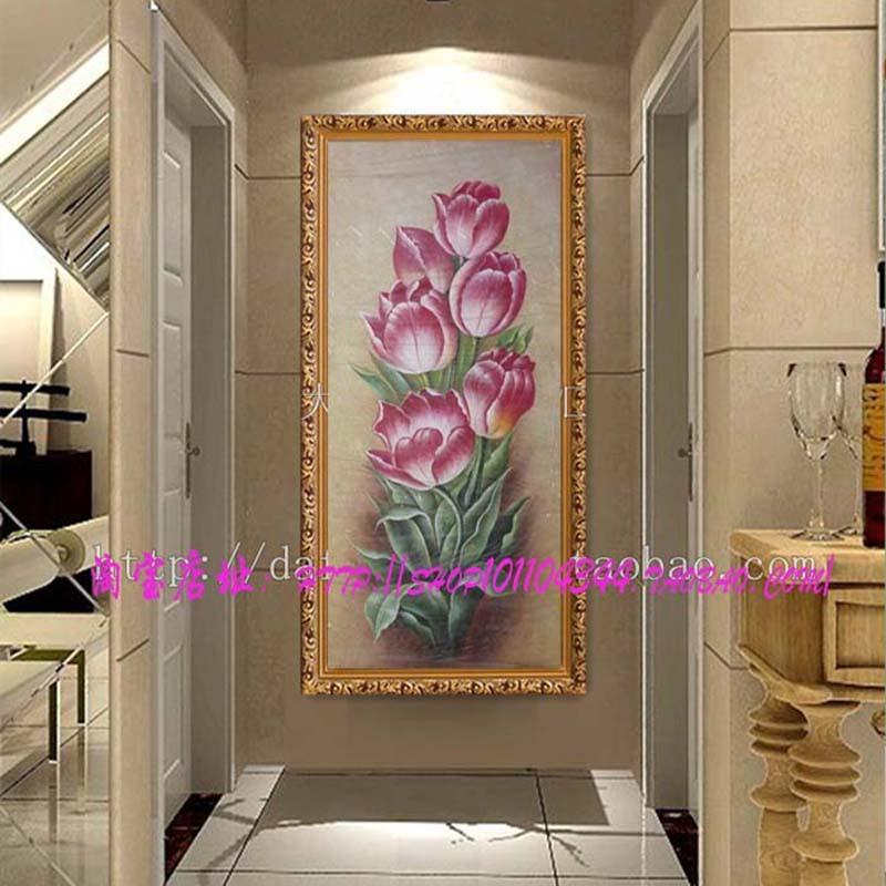 大幅客厅餐厅卧室玄关装饰油画纯手绘欧式无框画古典