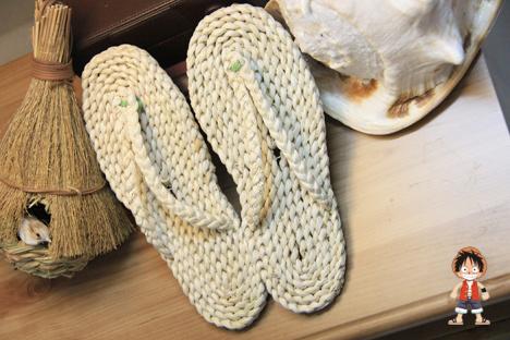 海贼王拖鞋 天然手工编织玉米皮拖鞋 海贼王路飞 草鞋人字拖