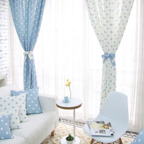 左右爱清新定做韩式装饰窗帘欧式半遮光卧室客厅窗帘