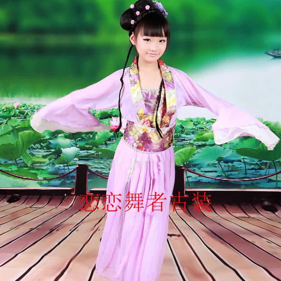 儿童古装服装仙女装 舞台装唐装汉服 古装演出服 七仙女贵妃装