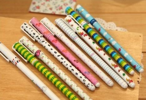清新可爱中性笔 创意彩色水笔水性笔