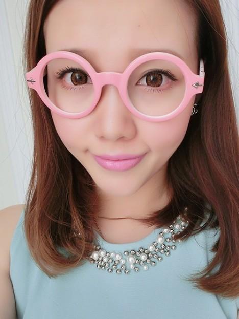 韩国版新款 潮流萌妹子素颜透明粉色系平光眼镜