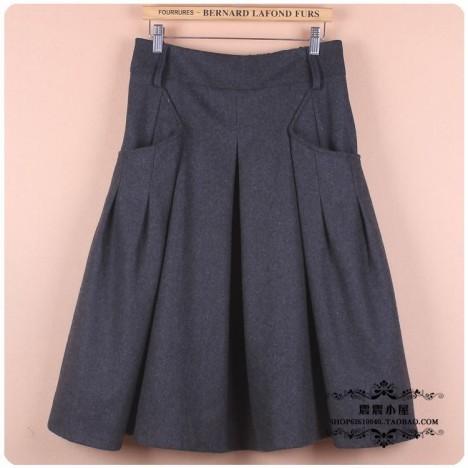 冬季厚长裙搭配图片_冬季厚长裙如何搭配