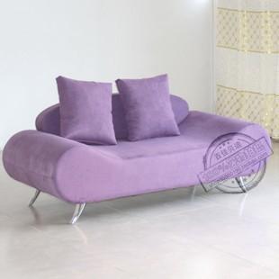 紫色布艺沙发搭配