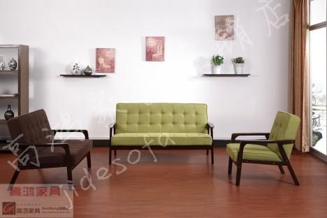 木架沙发 布艺沙发 现代复古风格
