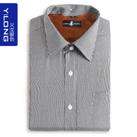 条纹保暖衬衫搭配图片