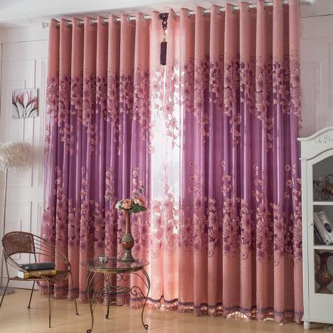 高档欧式窗帘布客厅搭配图片