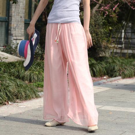 长裙甩裤搭配图片_长裙甩裤如何搭配