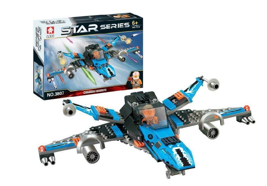 新品热卖乐高式积木 星球大战系列太空飞机 益智拼装玩具男孩礼物 有