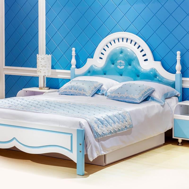 欧式儿童家具 男孩1.5米实木床