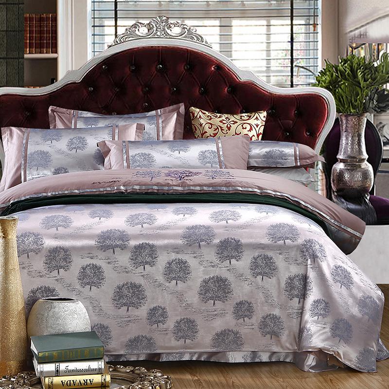 欧式奢华刺绣提花结婚婚庆床上用品被套床单