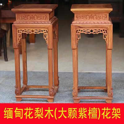 实木雕刻盆景架明清古典家具