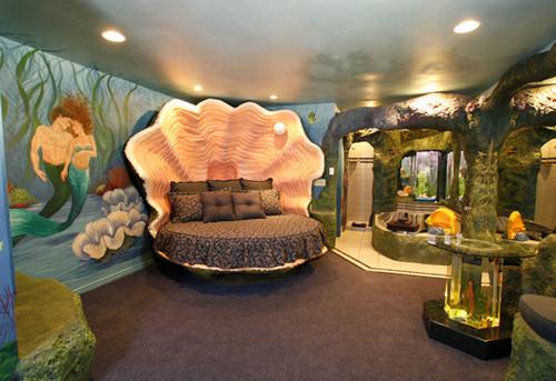 这个可以叫做贝壳床么,像是海底龙宫的感觉