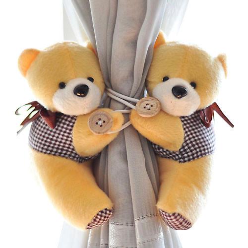 超可爱的小熊,让您的窗帘不再裸奔哟!