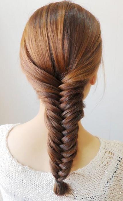 长发简单发型编扎法步骤
