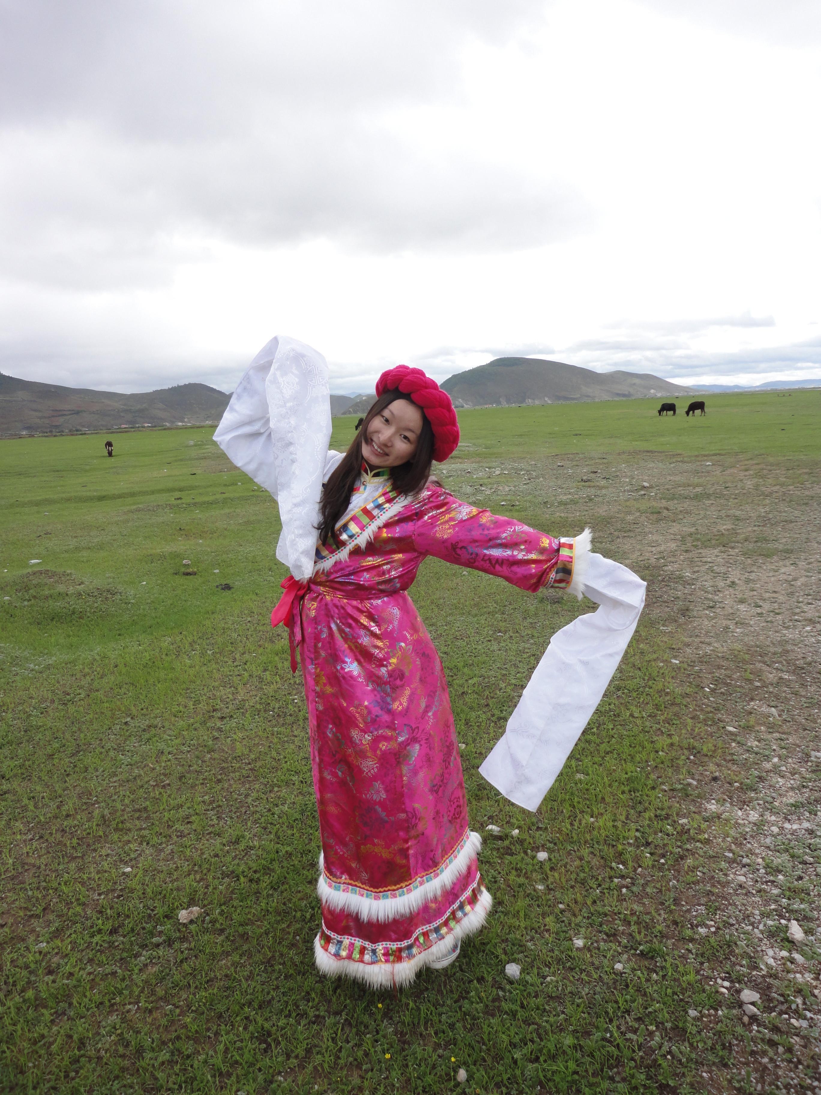 藏族服饰,偶是卓玛,扎西得勒