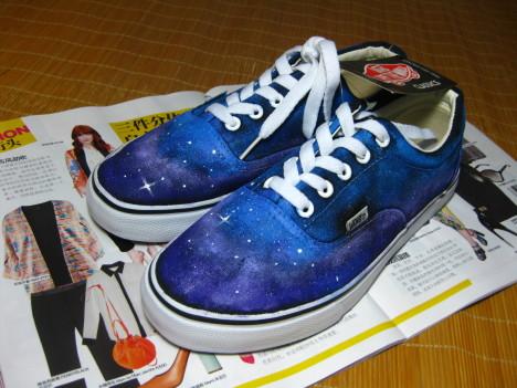 星空手绘鞋