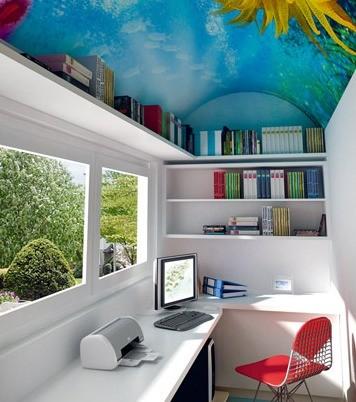 网友萍児懿寳77分享房屋风格设计:房顶贴上海底壁纸