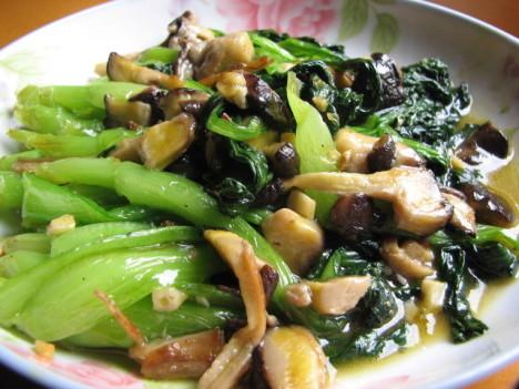 吃不腻的香菇炒青菜