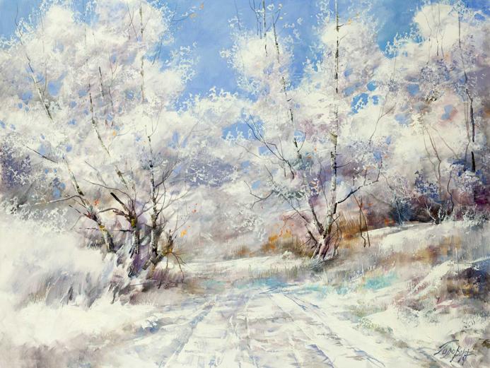 【英艺艺术】#艺术##冬天# 康斯坦丁·戈洛文 风景画