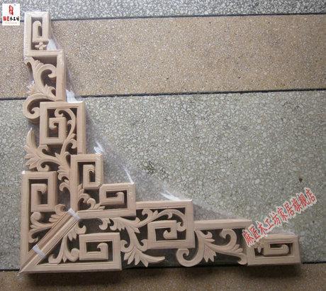 东阳木雕 客厅吊顶装饰 中欧式垭口木雕角花 背景墙贴花 实木花格,点