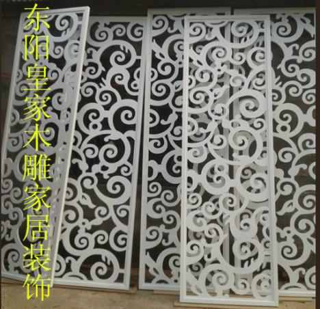 东阳木雕中式仿古门窗玄关隔断屏风背景吊顶圆盘镂空