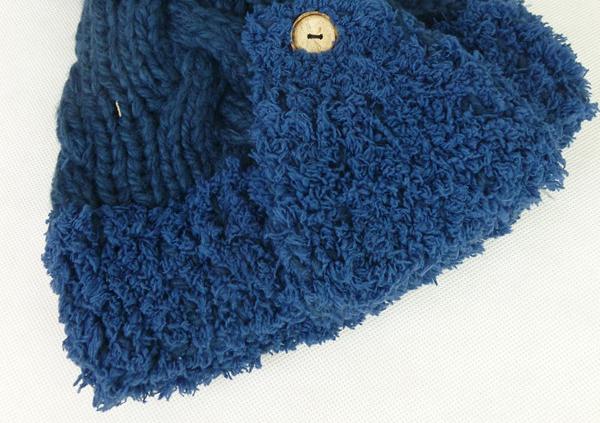 【冬季针织可爱蓝色帽子】-配饰-女士配饰